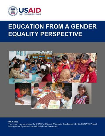 Education from a Gender Equality Perspective - United Nations Girls ...