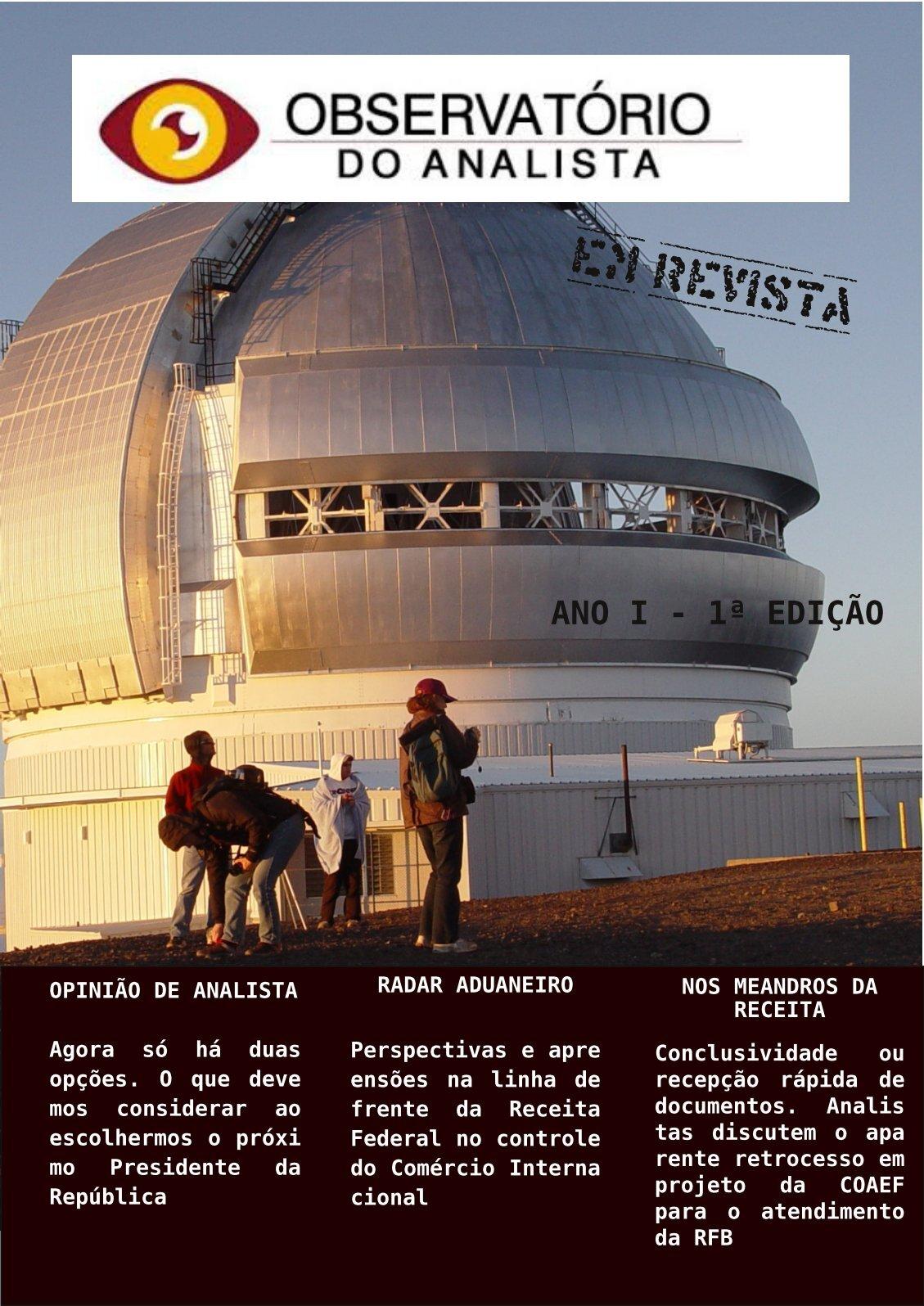 Observatório do Analista em Revista 1ª edição