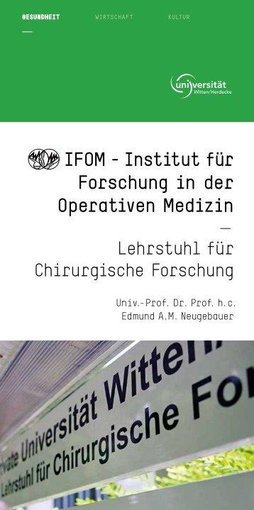 Imagebroschüre - Universität Witten/Herdecke
