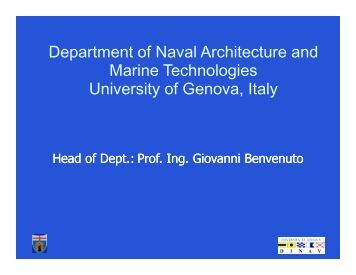 Department of Naval Architecture and Marine ... - SNAME.org
