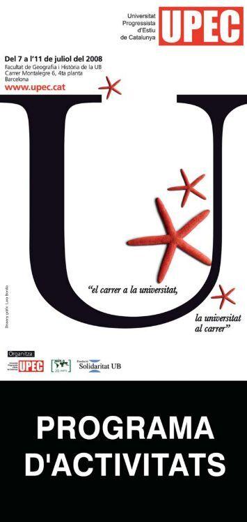 Disseny gràfic: Lara Bonilla - Universitat Progressista d'Estiu de ...
