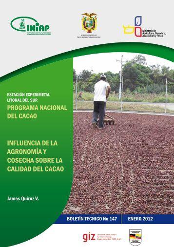 influencia de la agronomía y cosecha sobre la calidad del cacao