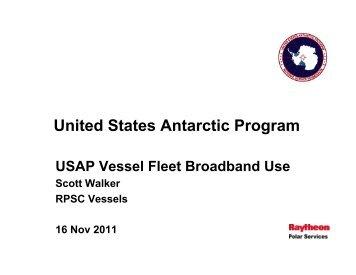 USAP Vessel Use of Fleet Broadband - UNOLS!