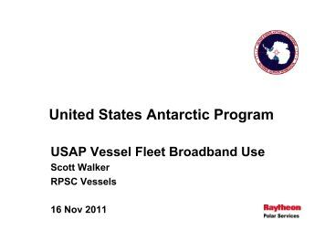 USAP Vessel Use of Fleet Broadband - UNOLS!