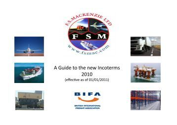 main features of incoterms 2010 Without a clear knowledge of the features, obligations and responsibilities for each of the 11 terms within incoterms 2010, traders may fail to choose the most suitable incoterm for their transaction, which may end up being an expensive mistake.