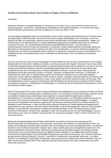 Text von Irene Müller (PDF in Deutsch) - Myriam Thyes