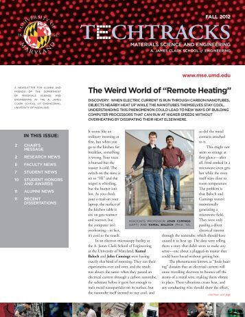 Fall 2012 - Materials Science and Engineering - University of Maryland