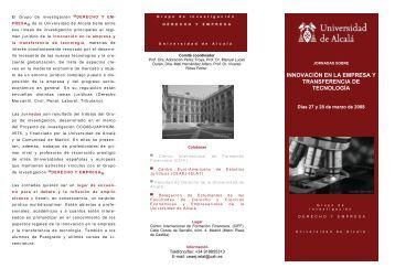 Jornada sobre Innovación en la empresa y transferencia ... - Madri+d
