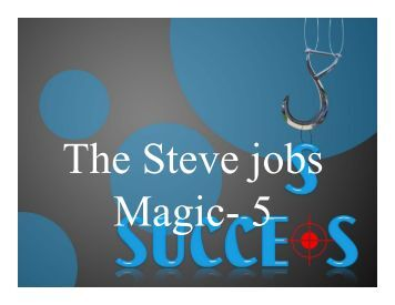 The Steve Jobs magic-5