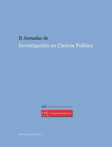 Investigación en Ciencia Política - Facultad de Trabajo Social