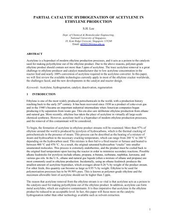 a conduction of a catalytic hydrogenation experiment Abstract although the importance of polynuclear aromatic hydrocarbons (pahs) as hydrogen transfer agents in coal liquefaction has been well established there have been few studies of the kinetics of the formation of hydroaromatic donor forms by catalytic hydrogenation.