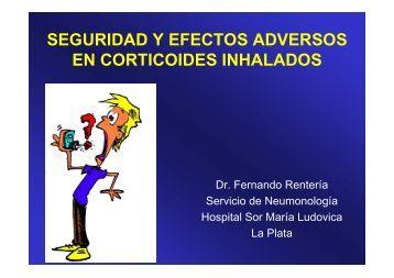 seguridad y efectos adversos en corticoides inhalados