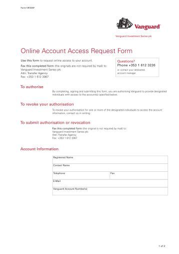 Title here centered fin for Vpn access request form template