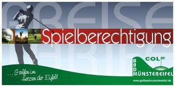 1.100,- € 100 - Golf Bad Münstereifel