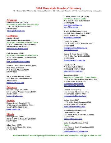 MSBA Breeders Directory