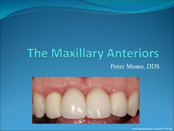 Internal Anatomy of Anterior Teeth