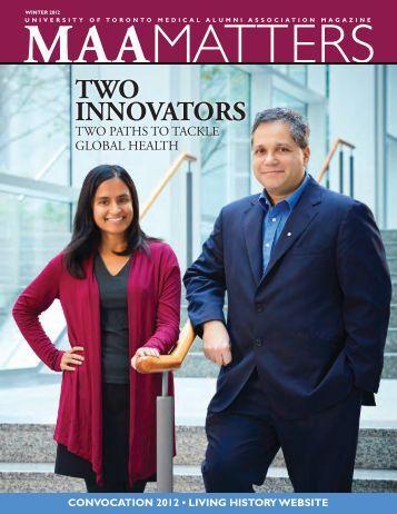 2012 Fall - University of Toronto Medical Alumni Association
