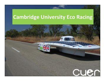 Cambridge University Eco Racing