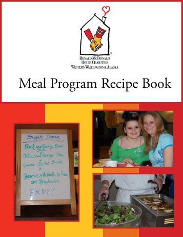 Family Meal Program Recipe Book - Ronald McDonald House