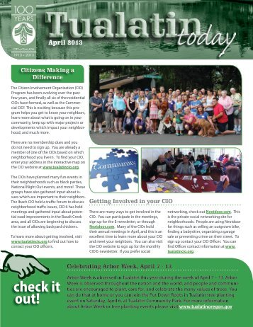 April 2013 Issue - City of Tualatin
