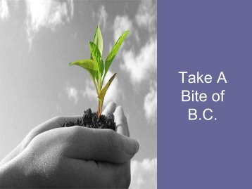 Take A Bite of B.C. - agriculture in the classroom...