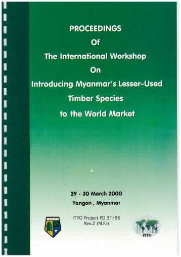 Proceedings of the International Workshop on Introducing ... - ITTO