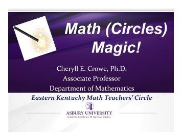 Math Circles PPT.pptx - Mathematical Association of America