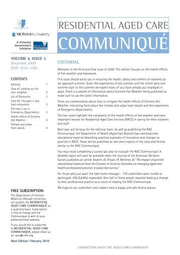 RAC Communique 2009-12 - Victorian Institute of Forensic Medicine