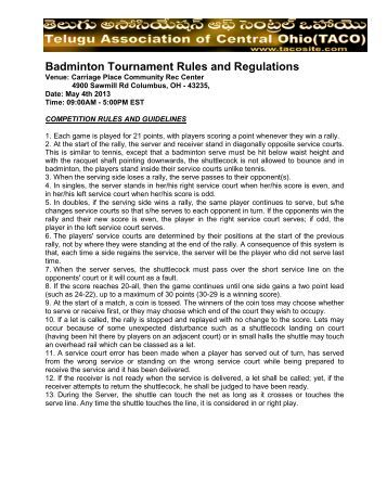 badminton rules and regulations A controversial new badminton rule that may have put many of its taller players at  a disadvantage has been panned by some of the sports.