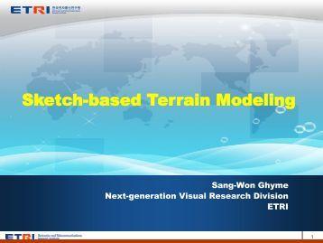 Sketch-based Terrain Modeling - SEDRIS