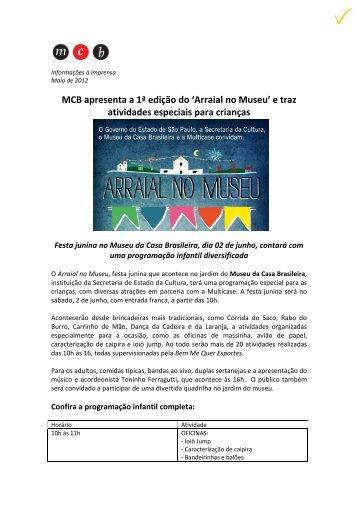 MCB apresenta a 1ª edição do 'Arraial no Museu' e traz atividades ...