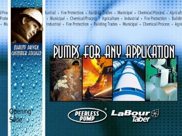 Centrifugal Pumps Systems Characteristics - Peerless Pump
