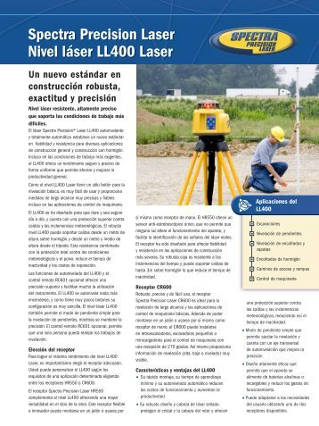 spectra precision laser ll400 manual