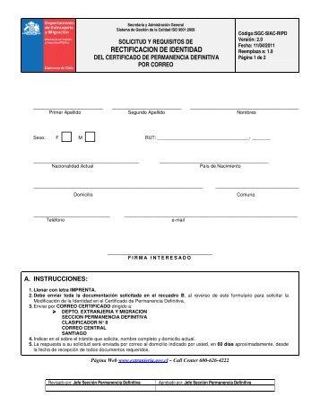 Descargar Solicitud y Requisitos - Departamento de Extranjería y ...