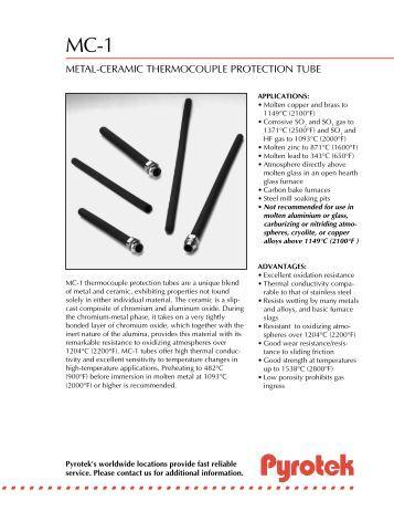 MC-1 Metal Ceramic TCPT - English (Letter) - Pyrotek