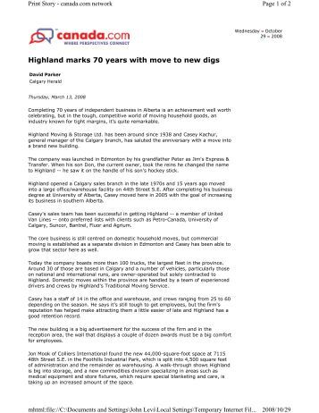 Highland Marks 70 Years with Move to New Digs