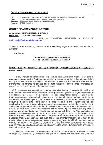CAI - Centro de Armonización Integral Página 1 de 19 09/09/2004 ...