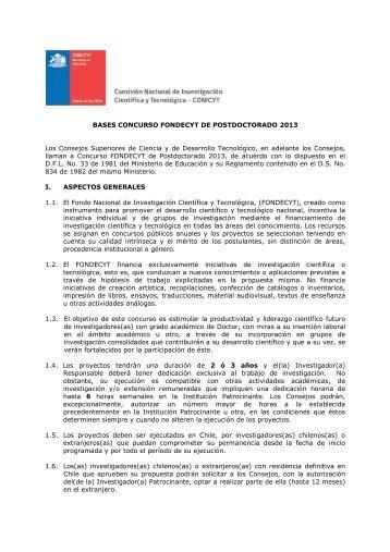 Bases FONDECYT Postdoctorado 2013 aprob DEJUR