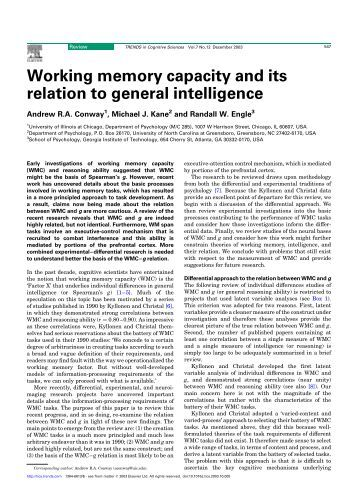 multitasking span measures and working memory capacity Working memory, and multitasking performance  multitasking, working memory capacity  has shown that this average difference for working memory measures is.