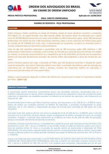 20140914061330-GABARITO JUSTIFICADO - DIREITO EMPRESARIAL
