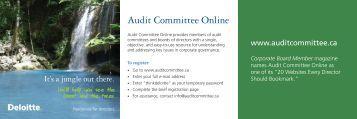 The Centre for Corporate Governance - Deloitte & Touche Canada