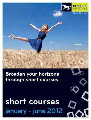 short courses - Box Hill Institute of TAFE
