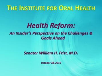 6 MB - Institute for Oral Health