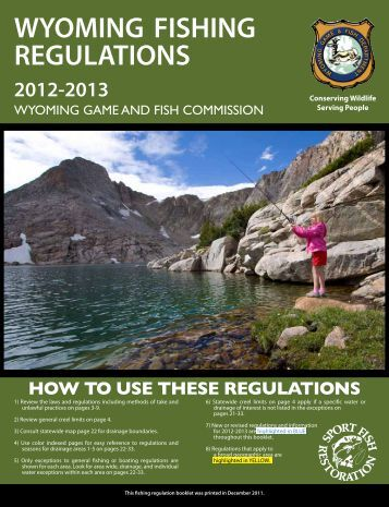 Wyoming game and fish department regulations autos post for Game and fish commission