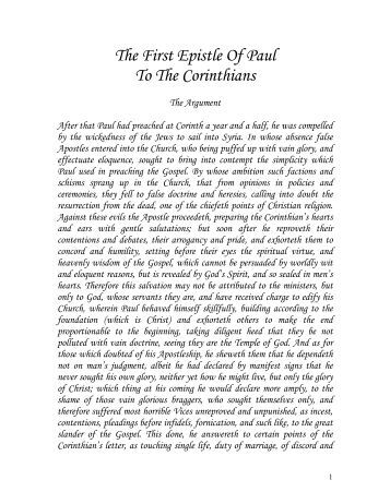 an analysis of pauls letter in the first letter to the corinthians Paul's mission and letters  read paul's account of the altercation at antioch in his letter to galatians  first corinthians is a very good example here.