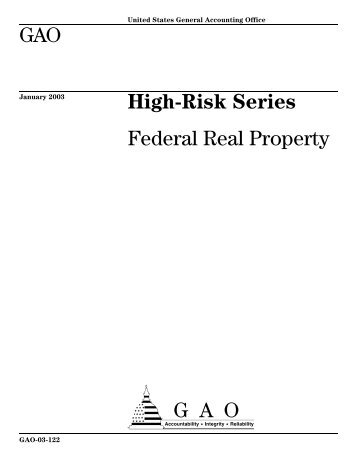Federal Real Property - US Government Accountability Office