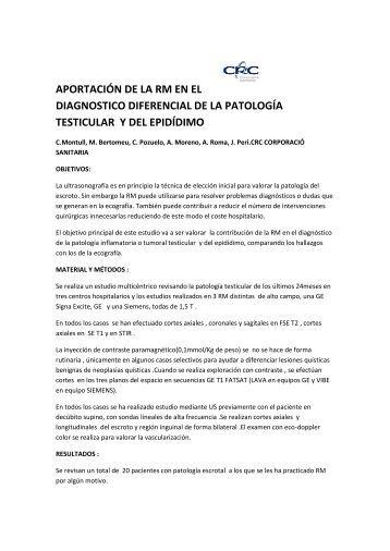 aportación de la rm en el diagnostico diferencial de la patología ...