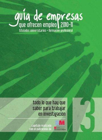 Guía de empresas que ofrecen empleo 2010-2011 - Madri+d