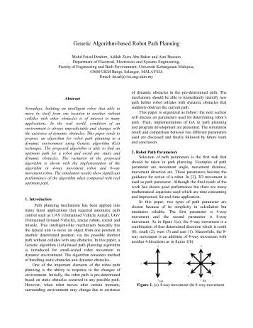 a path finder robot based on Different algorithms keywords—robot path planning dijsktra algorithm random   search a collision-free optimal path from a starting point to the target the path .