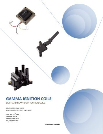GAMMA IGNITION COILS - Sapcorp.net